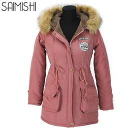 Wholesale Ladies Duck Down Jackets - Autumn Parkas Winter Jacket Women Coats Female Outerwear Casual Long Down Cotton Wadded Lady Woman Fashion Warm