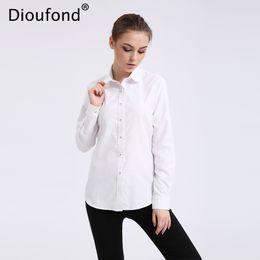 Wholesale Summer Long Shirt Simple Designs - Dioufond Solid Oxford Mint Women Blouses Long Sleeve Causal Blouse Shirt Simple Design Ladies Office Shirt Summer 2017 S-5XL
