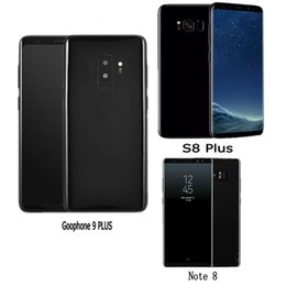 Wholesale Videos Free - Free DHL Goophone S8 plus note 8 smart phone Touch ID quad core 16GROM Full Screen 6.2inch Cellphone Show 4G LTE android Unlocked Phone