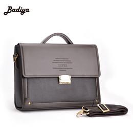 f3037b1df Al por mayor- Nuevo maletín de negocios de los hombres con la cerradura  Bolso de moda Messenger hombro Attache Portfolio Tote