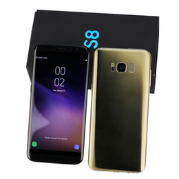 Wholesale French Front - 2018 HDC Goophone S8 S7 edge Unlocked cell phone Quad Core Android 6.0 1G Ram 8G Rom Show Octa core 64GB ROM Show 4G LTE Smartphone