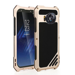 Wholesale Hard Lens Cases - New Hard Case For Samsung Galaxy S8 2 in 1 Camera Lens Phone Case With Dustproof Shockproof Aluminum Case For Galaxy S8+ Back Cover