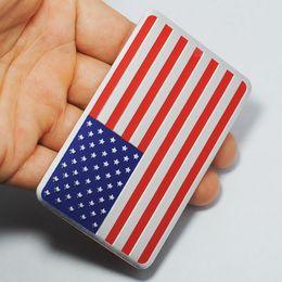 Wholesale Flag Packs - Metal Car Sticker American Flag Car Sticker Pack JDM Auto Stickers and Decals Car Styling Accessories Emblem Adhesive