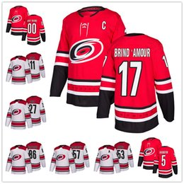 Wholesale Rod Drying - Carolina Hurricanes #17 Rod Brind'Amour 2 Glen Wesley 10 Ron Francis 2018 NEW Red Home White Retired Player Stitched Hockey Jerseys S-60