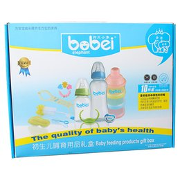 Wholesale Value Glasses - Bobei Elephant Newborn Baby Feeding Bottles Set Gift Box 10pcs Extra Values Suit
