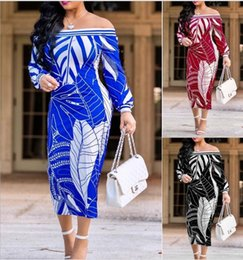 Wholesale nice red dresses - 2018 New Fashion Design Traditional African Clothing Print Dashiki Nice Neck African Dresses for Women