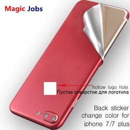 2019 película de color iphone Magic_Jobs Surface For iPhone 7 7 Plus Red Back Film Protector de pantalla fina Cubierta protectora Pegatinas Color Paster trasero película decorativa película de color iphone baratos