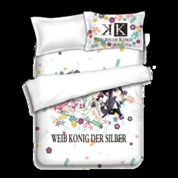Wholesale Quilt Bedcover - Japanese Anime K Bed sheets Bedding Sheet Bedding Sets Quilt Cover Pillow Case Bedcover 4PCS