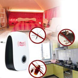 Wholesale Mosquito Indoor - EU US Plug Electronic Ultrasonic Pest Repeller Home Indoor Non-Toxic Safe Mosquito Killer Anti Mosquito Reject Repeller