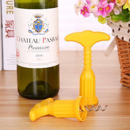 Mutfak Programı Alet Ucuz şarap şişesi açacağı basit plastik şarap şişesi açık araçları spiral şişe açacağı için DHL ücretsiz kargo nereden