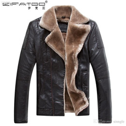 Wholesale Winter Coats Discounts - Fall-Discount urban clothing mens wool winter coats waterproof designer leather jackets with fur