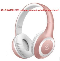 Wholesale Headset Audio - 8 Colors Bluetooth Headsets HD 3.0 Headphones wireless DJ stereo audio over ear Headsets Earphones with sealed box free DHL in stock