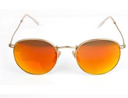 2be9a32ec4 Good Quality Men s Women s Colored Mirror Sunglasses UV400 Alloy Frame  Glass Lens Man Woman Unisex Fashion Round Sun Glasses