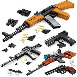 Série de pistolet de blocs de construction d'Ausini, jouets de modèle de pistolet de bâtiment de briques de construction technocompatible pour des enfants, airsoft Pistolets à air série 1 (AUCUNE BOÎTE) ? partir de fabricateur