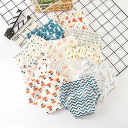 bfe0fd1f0f162 6 capas de pañales reutilizables para bebés Espesar Pantalones de entrenamiento  para bebés Cubiertas para pañales Bragas para bebés Bloomers lavables ...