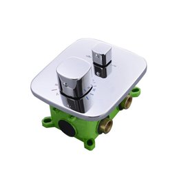 Wholesale Shower Thermostatic Valve - Shower Faucet In Wall Shower Valve Faucets Mixer Tap With Embedded box 2 Or 3 Functions Thermostatic Bahtroom Shower Mixers