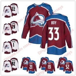 Wholesale Peter Forsberg - Colorado Avalanche #33 Patrick Roy 19 Joe Sakic 21 Peter Forsberg 52 Adam Foote 2018 NEW Brand Red White Retired Player Hockey Jerseys