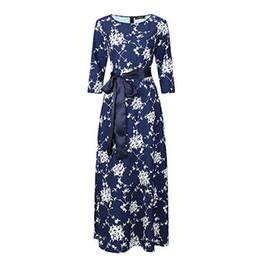 Marke Frauen Langes Kleid Heißer Verkauf Frühling Sommer Russischen Stil  Print Kleider Lange Bodenlangen Elegante Vestidos rabatt russischen stil  kleider e9babaae64