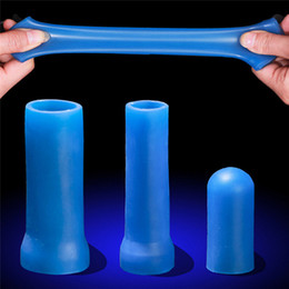 extender rings Coupons - 1PC Silicone Penis Sleeves For Penis Extender Cock Ring Dick Enlargement Extender Stretcher Sleeves Orgasm Massager Tool For Men