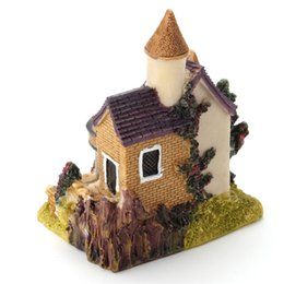 Wholesale toy castles for kids - Mini Castle Dollhouse DIY Fairy Garden Micro Landscape Resin Toys Gift For Kids Children