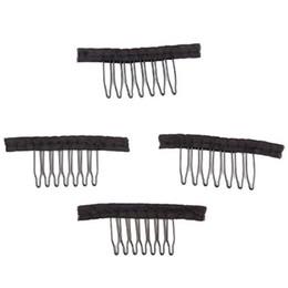 Новый парик клипы парик гребни клипы 7 зубов для парика сетка шапка для наращивания волос инструменты сетка шапка для волос расческа заколки cheap wig extensions от Поставщики расширения парика