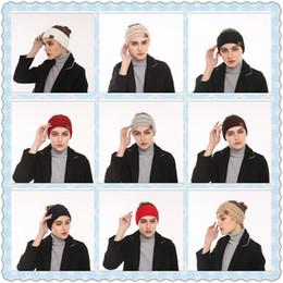 Wholesale knitted headbands wholesale - 10 Colors CC Knitted Headbands Women Winter Ears Headbands Knitted Turban Headwrap Crochet Headband Hair Accessories CCA8775 120pcs