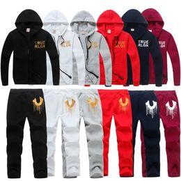 Wholesale Woven Pants - Bland TRUE Men's Zipper cardigan Sport Suits Tracksuits Hoodies Fashion Coats TR Jacket Pants Sportswear tr hoodies