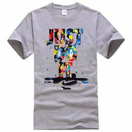 Wholesale Wholesale Anime Fashion Clothes - Wholesale-2017 New Fashion Just Do It T shirt Brand Clothing Hip Hop Letter Print Men T Shirt Short Sleeve Anime High Quality T-Shirt Men