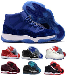 Wholesale Red Lace Fabric Stretch - 11 Basketball Shoes Mens Women 11s XI Gym Red Mike Like 96 Bred Space Jam Heiress Velvet Chicago Concord Trainer Sport Shoe Sneakers