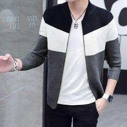 Wholesale Teenage Male Fashion - Men sweater cardigan zipper fashion 2017 new autumn male slim thin sweatercoat winter teenage boy knitted jacket