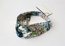 Canada 4 couleurs floraison imprimer bandeau en soie 1pcs mode jolie belle bowknot large bande à rebord femmes Offre