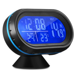 Wholesale Led Digital Car Clock - VST 7009V Car Digital Clock with Thermometer and Automotive Voltmeter 2 in 1 LED Dual Color Backlight Frost Alarm Snooze Fuction