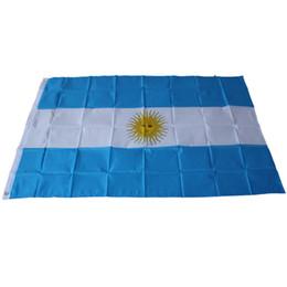 Argentina bandiere online-90 cm x 150 cm Bandiera Nazionale Argentina / 3ftx5ft Aregentina Bandiere Bandiere Calcio Appeso Attività / Sfilata / Festival / Home Decor