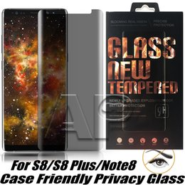 anti glare samsung 2018 - Case Friendly Privacy Tempered Glass 3D For Samsung Galaxy S9 Note 9 8 S8 Plus With Retail Package