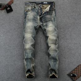 Italienische Vintage Designer Herren Jeans Hohe Qualität Slim Fit Nostalgie  Stil Tasten Hosen Klassische Jeans Marke Grundlegende Männer d9fe7f7cf0