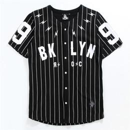 tshirt rayé blanc noir Promotion Chemise à Manches Courtes Chemise à Manches Courtes Tshirt N ° 99 Veste de Baseball Noire Manches Rayées T Blanc