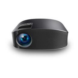 2019 projetor vga 2018 novo projetor YG600, projetor de alta definição de 5,8 polegadas LED, mini projetor em casa. Fuselagem 31 * 24 * 12 cm, VGA + 2HDMI + USB + AV / SD projetor vga barato