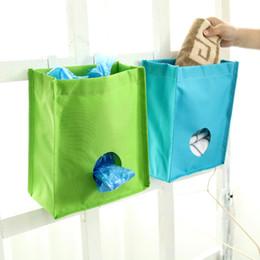 Wholesale Cabinet Trash Bag Holder - Oxford Extract Garbage Bags Door Back Trash Rack Storage Bag Holder Cabinet Hanging Trash Rack Kitchen Organizer