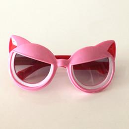 23c1ef88363 Cute Children Cartoon Sunglasses Cat Shape Sunglasses Boys Girls Sun Glasses  Baby UV Protection Glasses Eyeglasses Five Colors Available