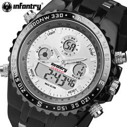 73776e104b9 assiste a infantaria Desconto INFANTARIA Esportes Relógios Homens Display  LED Original Cronômetro Digital Relogio masculino À