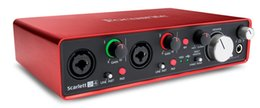 Original FOCUSRITE Scarlett 2i4II interface de áudio USB gravação de guitarra placa de som 2 in / 4 out para músicos e DJs digitais de