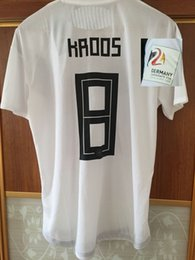 Wholesale game wear - 2018 Friend Game Alemania Jersey Match Worn Player issue Ozil KROOS Reus HUMMELS KIMMICH DRAXLER Soccer Jersey With 2024 Patch Sport Shirt