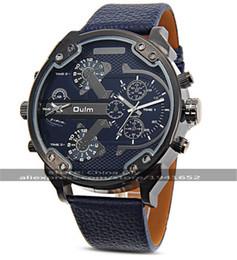 спортивные унисекс механические часы Скидка 2016 Oulm 3548 унисекс двойного движения спортивные механические часы с GMT двойной дисплей времени, термометр компас