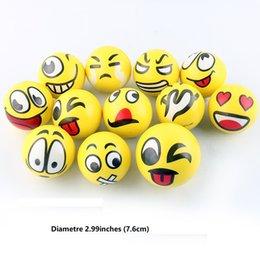 Wholesale Education Ball - emoji squishy Antistress Balls Toys Mini Foam Education Earth Children Pu Laugh Face Toy Antistress Balls monsters emoji Kids Toys