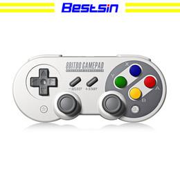 2019 contrôleur double joystick Bestsin Manette classique sans fil Bluetooth SF30 Pro Bluetooth Dual Pc pour téléphone iOS, Android, Gamepad, PC promotion contrôleur double joystick
