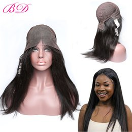 Wholesale Human Hair Lace Wigs Sale - BD Straight Human Hair Wigs Glueless Lace Front Wigs Brazilian Virgin Hair Wigs Natural Hairline 150% Density Hot Sale