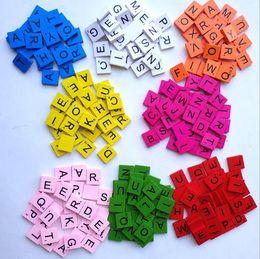 Fliesen Designs Rabatt 100 Teile / Satz Holz Alphabet Scrabble Fliesen  Buchstaben Zahlen Für Handwerk