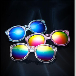 Wholesale Round Rice - For Women Fashion Sunglasses Rice Nail New Pattern Arrow Transparent Color Film Sun Glasses Men Circular Frame Spectacles Creative 2 7sl Y