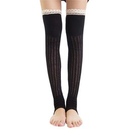 Wholesale Japanese Over Knee Socks - Women High Over The Knee Socks Thigh High Stockings Knitted Warm Japanese School Student Long Sock#LREW