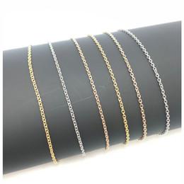 o kettenhalskette rostfrei Rabatt 2,3 mm Herren und Damen 316L Edelstahl O-Kette Halskette 18-20 Zoll